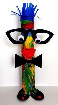 Fantasiefiguren u girlande aus zeitungspapier fasching basteln meine enkel und ich - Clown basteln kindergarten ...