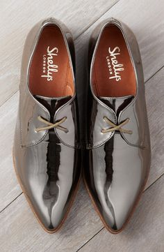 a modern, minimalist lace-up oxford