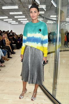 PARIS, FRANCE - OCTOBER 02: Giovanna Battaglia attends the Celine show as part of the Paris Fashion Week Womenswear Spring/Summer 2017 on October 2, 2016 in Paris, France. (Photo by Pascal Le Segretain/Getty Images)