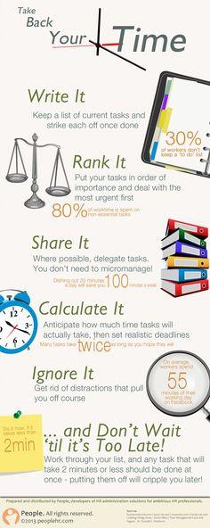 save time:
