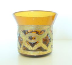 Amber Glass and Patina Copper Votive Candle Holder by loveemmagray, $3.50