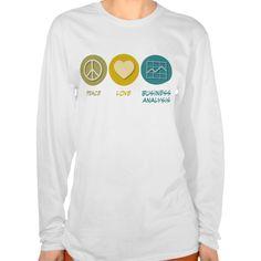 Peace Love Business Analysis T Shirt, Hoodie Sweatshirt