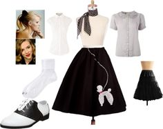"""""""1950s Malt Shop Babe"""" by sarahthesloth on Polyvore"""