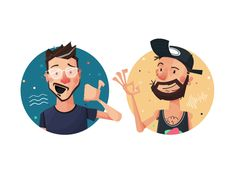 Friends Characters  by Kirk! Wallace #Design Popular #Dribbble #shots