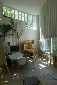 Studio/office (possibly living room as well?) High ceilings and/or quirky windows