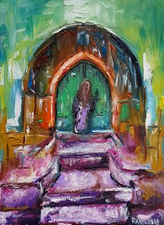 """💎Between Earth and Sky""💎by Ramune Art🎨🖼 #earth #sky #door #violet #ellegant #pretty #artist #painting #RamuneSadauskiene  #contemporary #contemporaryart #interiør #womenstyle #beautyandthebeast #womenbeauty #interiordesign #interiors #homedeco #ramune_art #ichliebees #instaartist #kunstliebe #kunst #instacool #instaart #artistsoninstagram #abstractartist #abstraktekunst"
