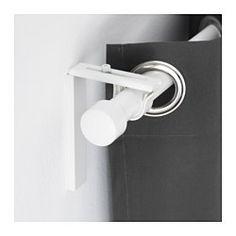 IKEA - HUGAD, Gardinenstange, weiß, 210-385 cm, , In der Länge verstellbar.Mit separat erhältlichen Endstücken lässt sich die Gardinendekoration öfter mal in einem anderen Stil gestalten.