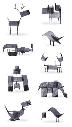 Calligraphy Animals by Andrew Fox illustration in Art Fuchs Illustration, Doodle Drawing, Colossal Art, Calligraphy Pens, Grafik Design, Oeuvre D'art, Graphic Art, Design Art, Concept Art
