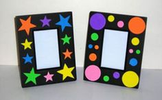 Paper Crafts For Kids, Craft Stick Crafts, Preschool Crafts, Easy Crafts, Circus Decorations, School Decorations, Marco Diy, Diy Niños Manualidades, Picture Frame Crafts