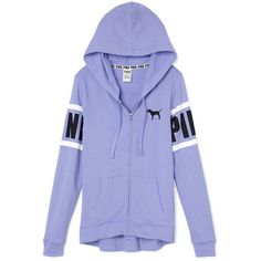 PINK Perfect Full-Zip Hoodie ($50) ❤ liked on Polyvore featuring tops, hoodies, jackets, pink, sweatshirt hoodies, slim fit hoodies, slim hoodie, hooded pullover and hooded sweatshirt