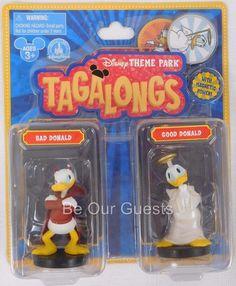 Disney Theme Park Tagalongs Bad Donald Good Donald Magnetic Power New