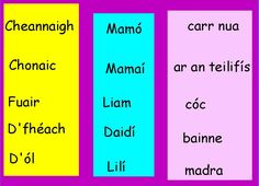 Flipcharts to use in Primary School 6 Class, Irish Language, Education Center, Primary School, Spelling, School Ideas, Centre, Ireland, Classroom