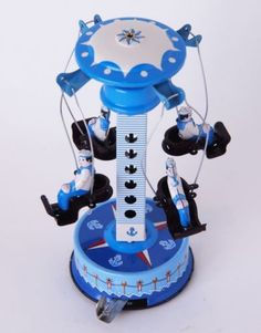 Japanese Tin Toys Roundabout-BL Friction Vintage Antique Asprund Japan Collecter
