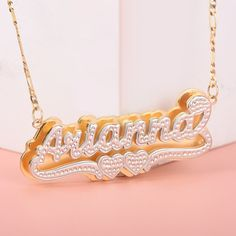 Drop your name to see the necklace design. Name Jewelry, Jewelry Gifts, Jewelry Necklaces, Custom Name Necklace, Two Hearts, Necklace Types, Necklace Designs, Jewelry Trends, Personalized Jewelry