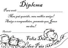 Cinco Lindos Diplomas de Dia dos Pais Para Imprimir - Blog Cantinho Alternativo