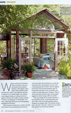 """Better Homes and Gardens Magazine: I would love to have this if there was no such thing as """"bugs"""""""