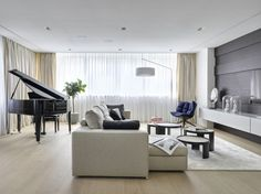 Elegant Home for a Pianist in Moscow   Source