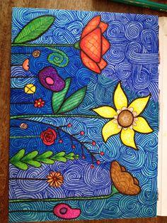 Veldbloemen Arte Popular, Doodles, Painting, Painting Art, Paintings, Painted Canvas, Donut Tower, Doodle, Drawings