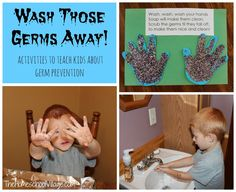 Wash Those Germs Away! Activities to Teach Kids About Germ Prevention