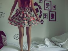 Jumping on a bed...hehe!
