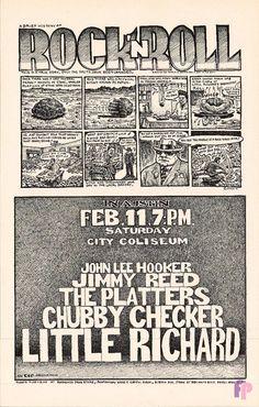 Classic Poster - John Lee Hooker at City Coliseum, Austin, TX 2/11/71 by Jim Franklin