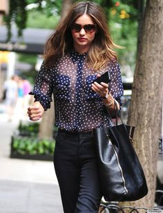 how to wear sheer blouse 5