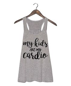 Loving this Athletic Heather 'My Kids Are My Cardio' Flowy Tank on #zulily! #zulilyfinds