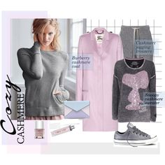 Cozy Cashmere: Snoopy Goes Cashmere by judysingley-polyvore on Polyvore featuring мода, Victoria's Secret, Princess Goes Hollywood, Burberry, Stefanel, Converse, Rebecca Minkoff, New CID Cosmetics, Nails Inc. and cozycashmere