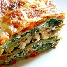 Spinach Chicken Lasagna