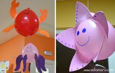Fiesta marina con globos con luces led