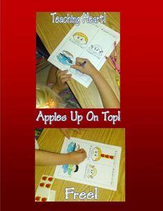 apples up on top activity free to print
