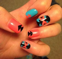 Amazing Nails ~ Aztec inspired nails