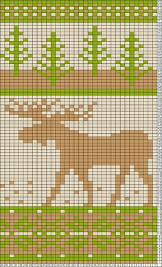 Moose fair isle pattern