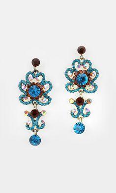 Celeste Earrings in Topaz on Sapphire