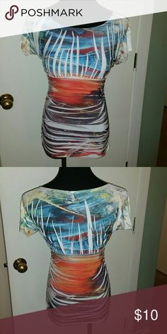 Multi-colored bodycon top Multi-color bodycon top Tops Blouses