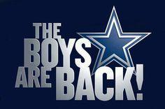 The boys are back...Dallas Cowboys
