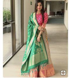 Lehenga for Women: Buy Lehenga Choli Online in India at Cheapest Price Indian Gowns Dresses, Indian Fashion Dresses, Indian Designer Outfits, Lehenga Saree Design, Lehenga Designs, Long Dress Design, Stylish Dress Designs, Saris, Lehnga Dress