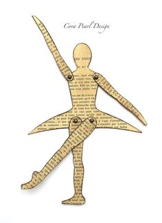 Ballerina Articulated Doll Book Mark Novelty by CoraPearlDesign