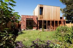 "rockcitybuilding op Twitter: ""Rock City building group. Western red cedar cladding first floor extension, recycled red bricks, Blackbutt pergola. http://t.co/uILsQbuH01"""