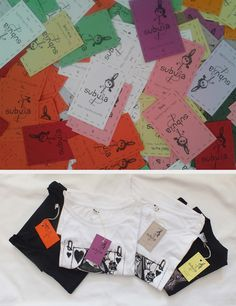 art clothing company labelling