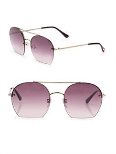 Tom Ford Eyewear - Antonia 55MM Round Sunglasses