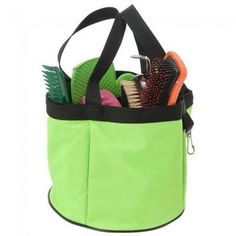 Tough-1 Neon Green Grooming Caddy Horse Tack Equine 72-7815