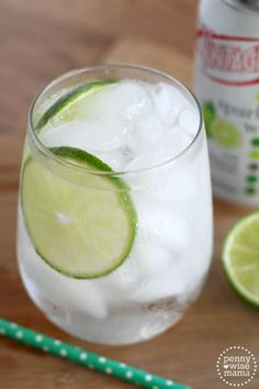 Gin Rickey - A refreshing blend of gin, lime juice and sparkling water. (non-alcoholic version available)