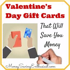 By Shelley Hunter, Gift Card Girlfriend at GiftCards.com When it comes to shopping for presents, I'm a classic over-spender. Though I often have a budget in mind, I sometimes spend more than planne... Valentine's Day Gift Cards That Will Save You Money #valentines #valentinesday #giftcards #valentinesdayideas #valentinesdaygifts