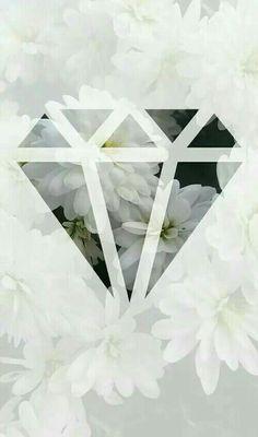 Diamant mit Blumen