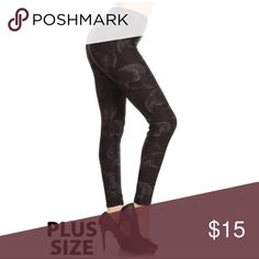 New Women's Curve & Super Soft Print Legging Plus Size super soft printed legging,high waist leggings in a fitted style, with an elastic waistband. 92%Polyester,8% Spandex. I ship same day or in 3/5 business day. 💮PRICE FIRM 💮BUNDLE&SAVE Pants Leggings