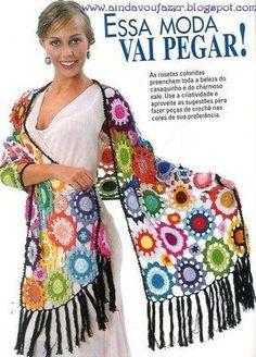 Outstanding Crochet: Crochet Multicolored Shawls.