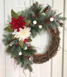 Christmas Sprigs Wreath Christmas Grapevine Wreath Winter