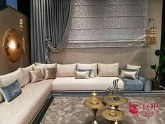 Moroccan new style Living Room Decor Curtains, Decor Home Living Room, Living Room Sofa Design, Elegant Living Room, Home Room Design, Living Room Designs, Modern Luxury Bedroom, Luxury Sofa, Luxurious Bedrooms