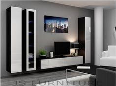 HIGH GLOSS TV CABINET / TV WALL UNIT / TV STAND 'VIVA 2A'